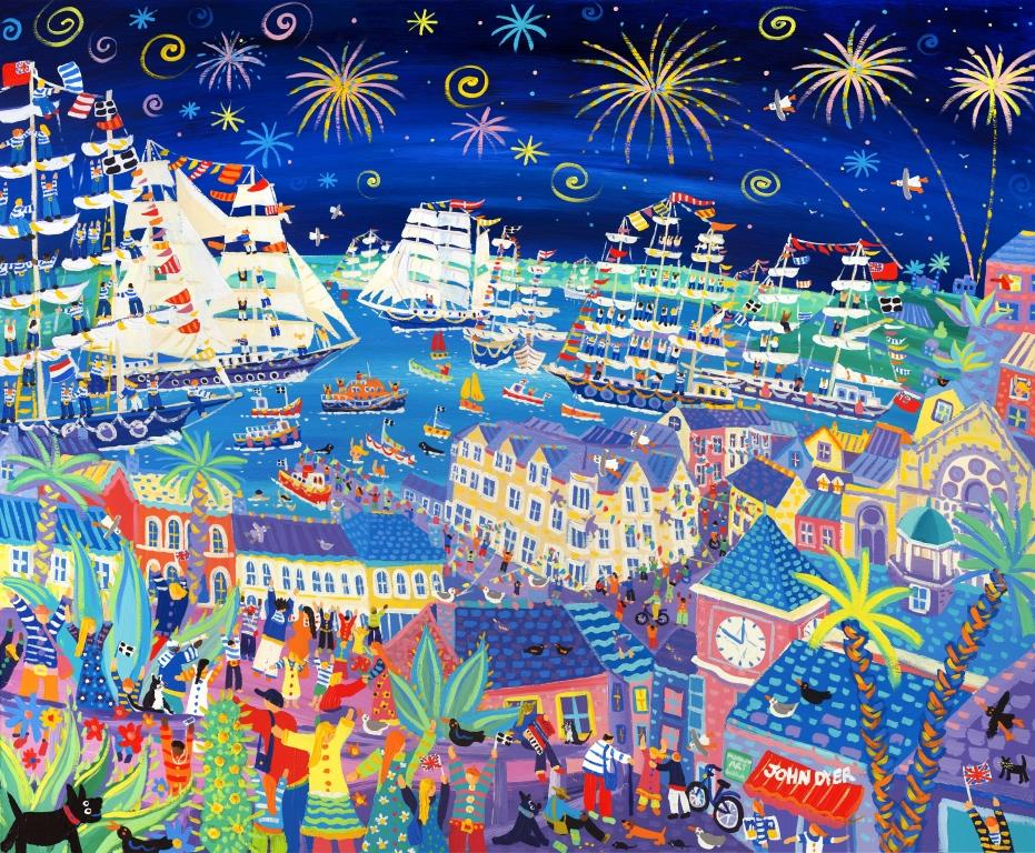 """Tall Ships and Small Ships"" - by John Dyer, the Festival's ""Artist in  Residence"""